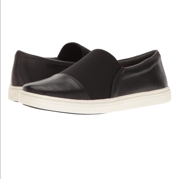 Via Spiga Black Leather Sneakers Size
